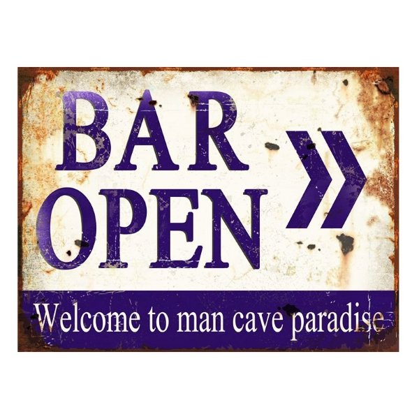 Placa Decorativa - Bar open