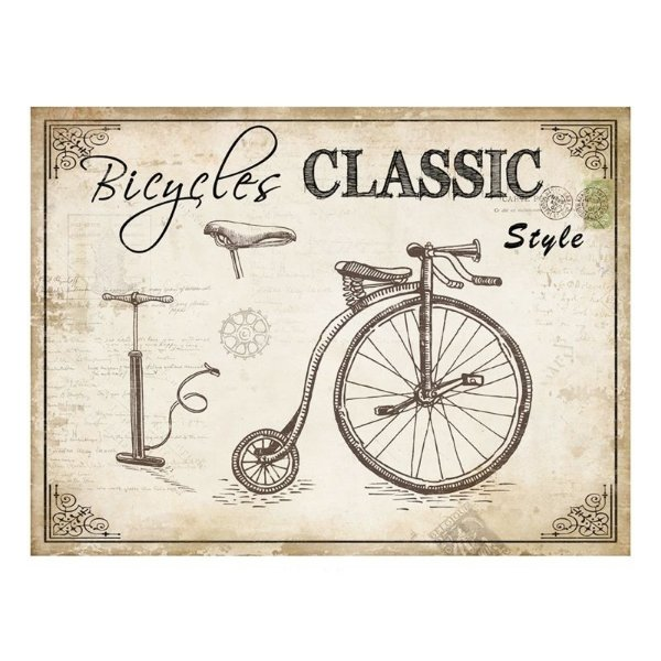 Placa decorativa - Bicycles classic