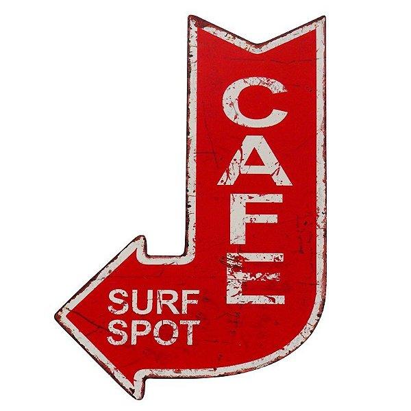 Placa decorativa - Cafe surf spot