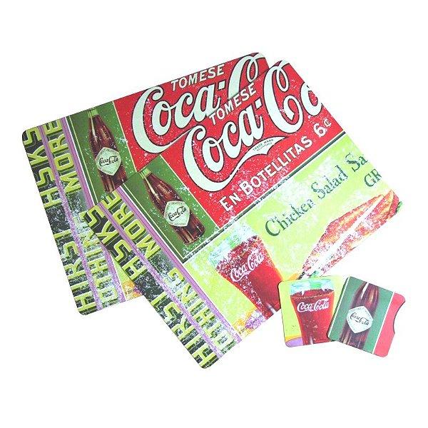 Jogo americano e porta copo - Coca-Cola