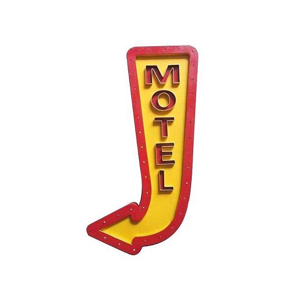 Placa decorativa com led - Motel