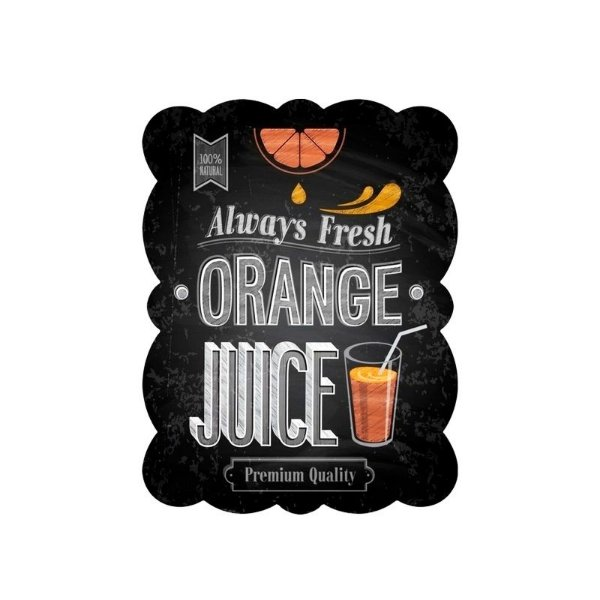 Placa decorativa - Orange juice