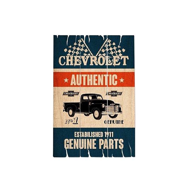 Placa decorativa - GM genuine parts