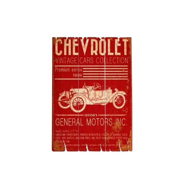 Placa decorativa - GM Jalopy vintage cars