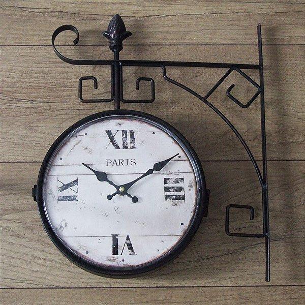 f771aefc337 Relógio retro de parede Paris - Estação Vintage  Retrô decoração e ...