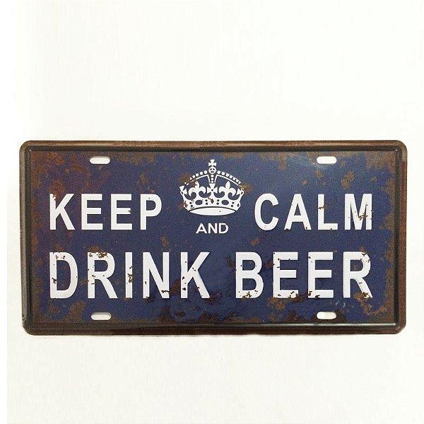 Placa decorativa - Keep calm