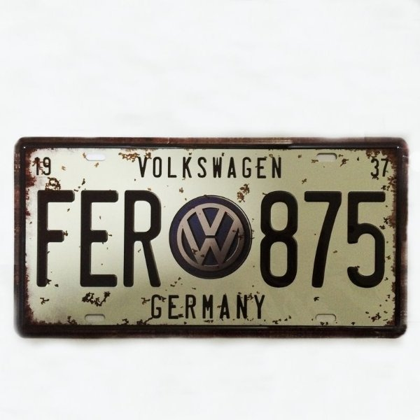 Placa decortaiva - Volkswagen