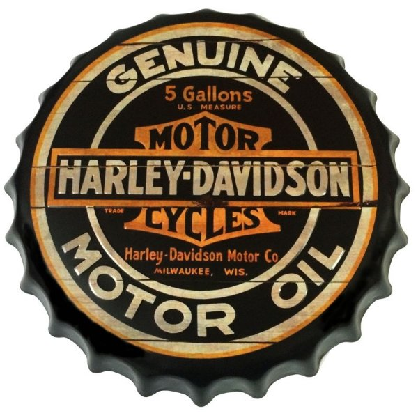 Placa tampa decorativa - Harley Davidson genuine motor oil