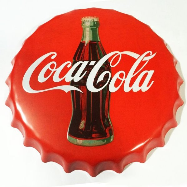 Placa tampa decorativa - Coca-Cola