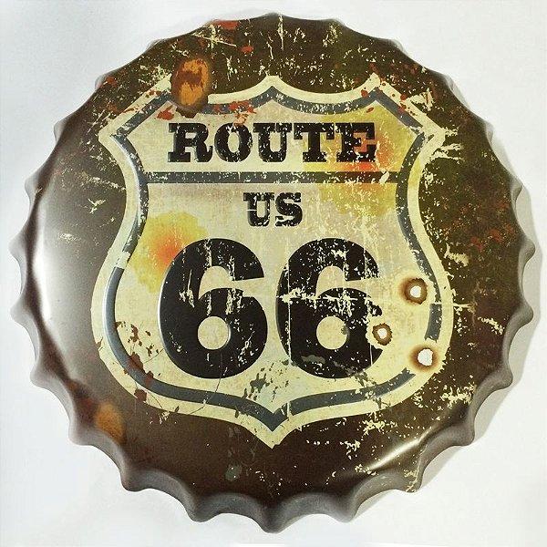 Placa tampa decorativa - Route US 66
