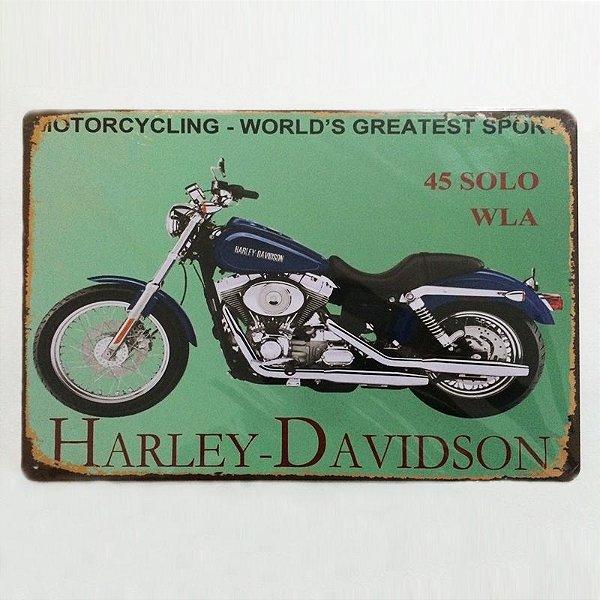 Placa decorativa - Harley Davidson