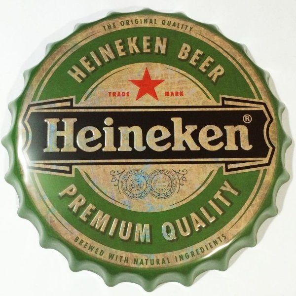 Placa tampa decorativa - Heineken