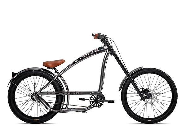 Bicicleta retrô Nirve estilo chopper - Cannibal Mirror Black