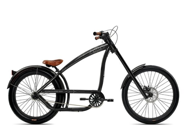 Bicicleta retrô Nirve estilo chopper - Switchblade Gloss Black