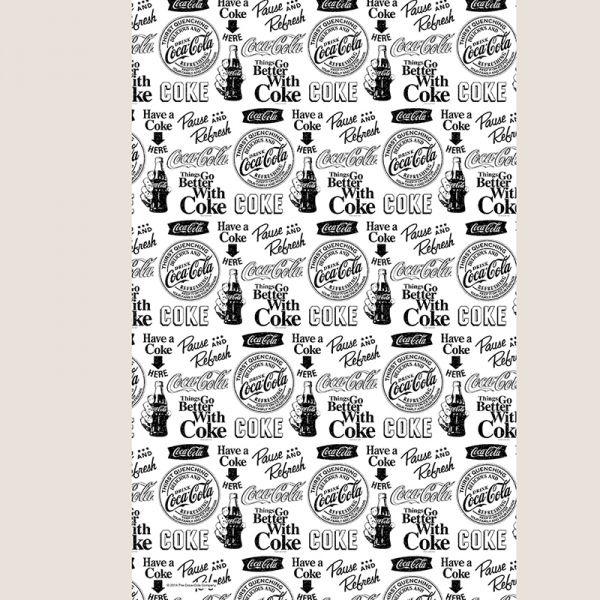 Pano de prato - Coca-Cola logos