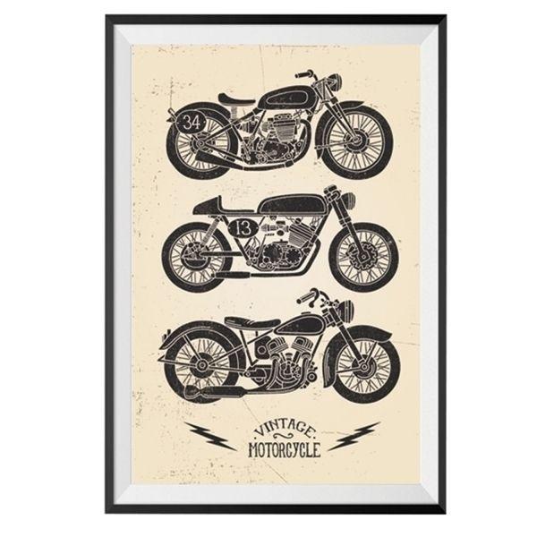Poster emoldurado - Motorcycles