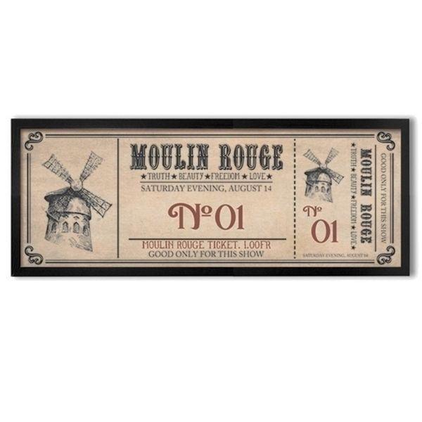 Poster emoldurado - Moulin Rouge