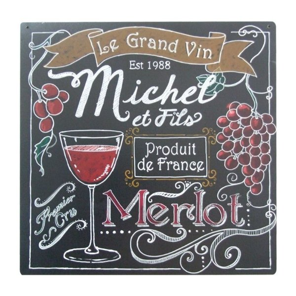 Placa decorativa - Le grand Vin Merlot