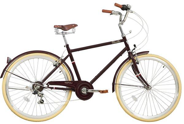 Bicicleta retrô Novello - Napoli marrom