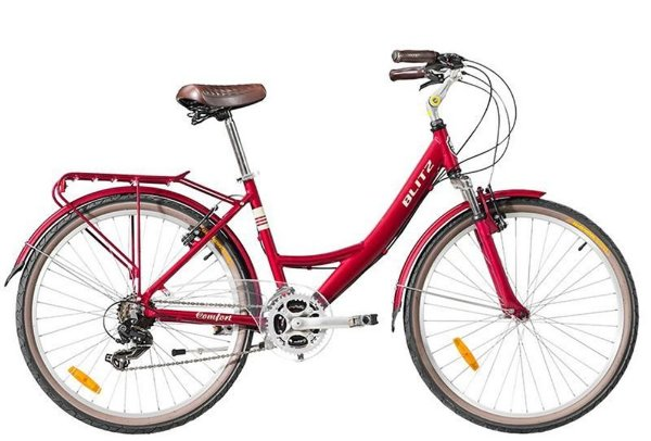 Bicicleta retrô Blitz - Comfort vermelha