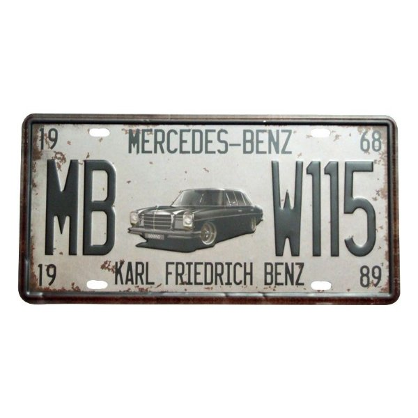 Placa decorativa - Mercedes Benz