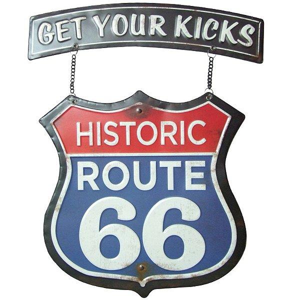 Placa decorativa - Historic Route 66