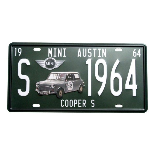 Placa decorativa - Mini Cooper