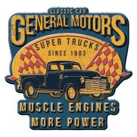 Placa decorativa - GM super trucks