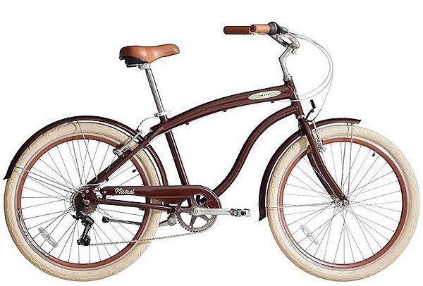 Bicicleta retrô Blitz - Mistral Marrom
