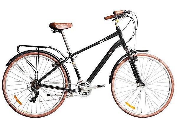 Bicicleta retrô Blitz - Seven Comfort 700 preta