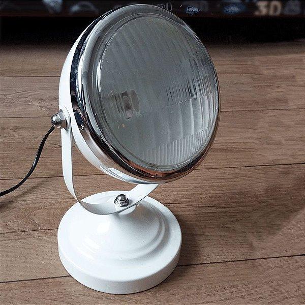 Luminária de mesa car front light branco