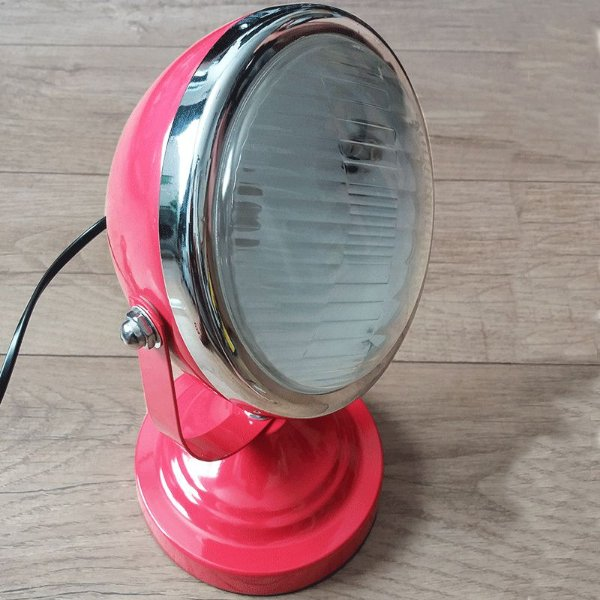 Luminária de mesa car front light vermelho