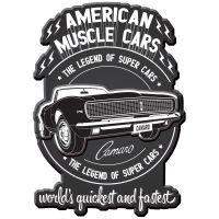 Placa decorativa - American Muscle cars