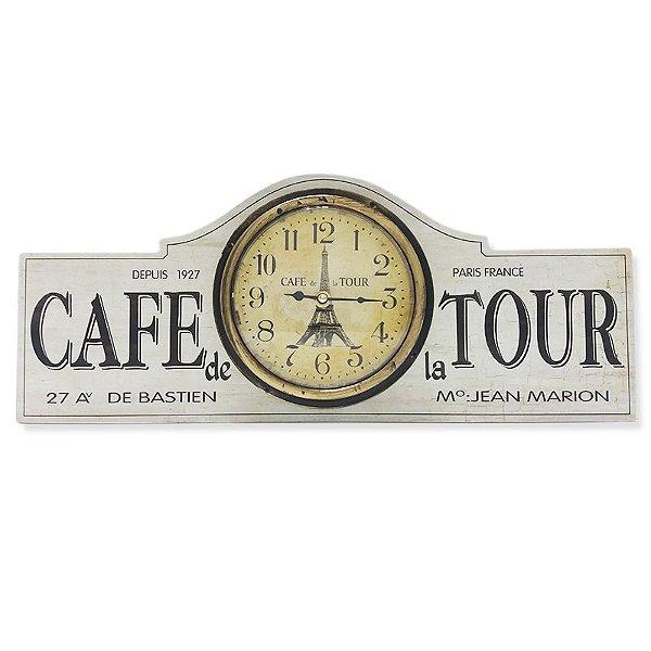 Relógio de parede Cafe de la tour branco