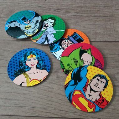 Porta Copo - DC Caracthers colorido