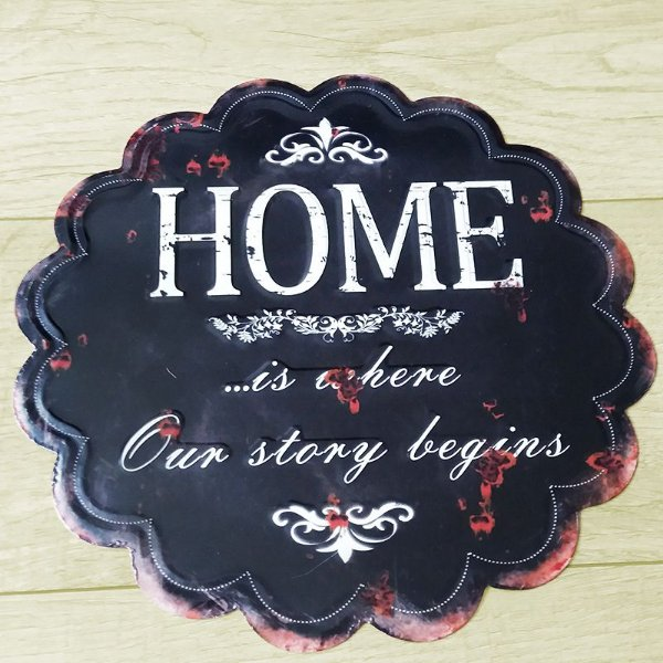 Placa decorativa - Home
