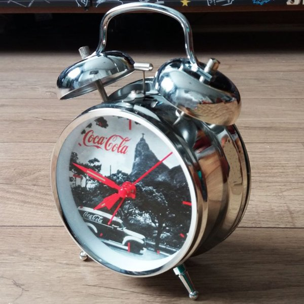 Relógio despertador a corda - Coca-Cola