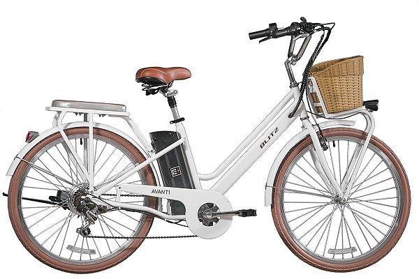 Bicicleta retrô Blitz - Avanti branca