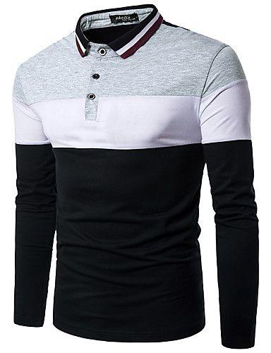 f7be17e49956e Camisa Polo Manga Longa Estampa Colorida - Camisas Luxury  Loja ...