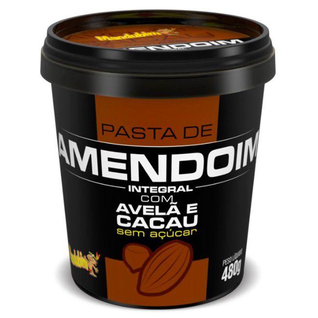 PASTA DE AMENDOIM Com Cacau e Avelã (480g)