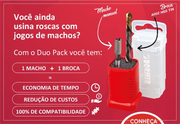 Kit Duo Pack com Macho M8 Máquina e Broca Ø6,8 - Dormer