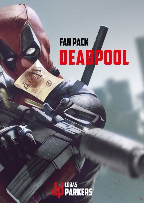 FAN PACK - DEADPOOL - Edição Especial + Poster e Adesivo.