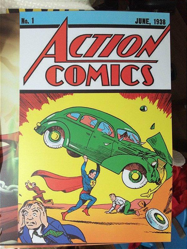 Quadro Capa Action Comics 1 - Quadro em PVC