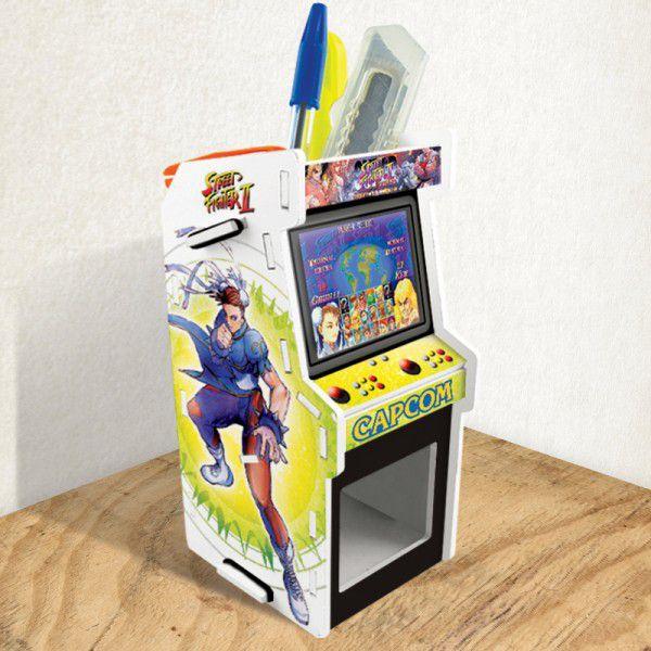 Porta Treco Arcade Branco - Street Fighter 2
