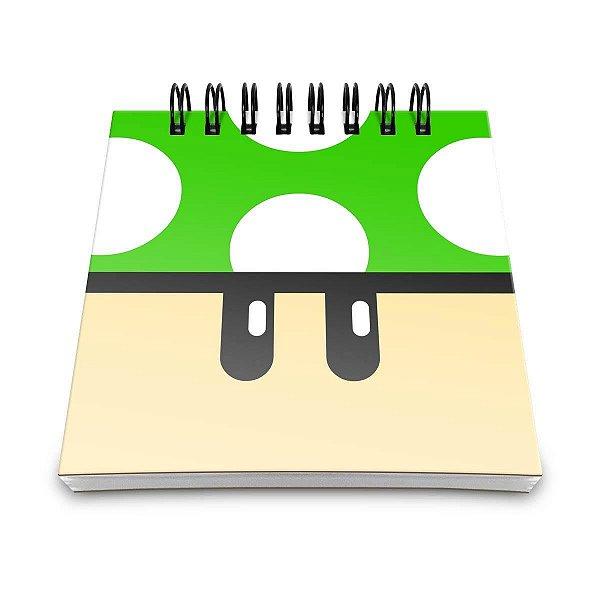 Bloco de Notas - Cogumelo Verde 1UP