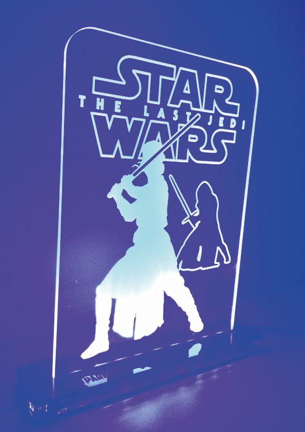 Luminária - The Last Jedi Star Wars