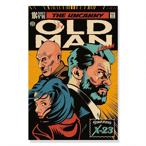Quadro Canvas Old Man Logan