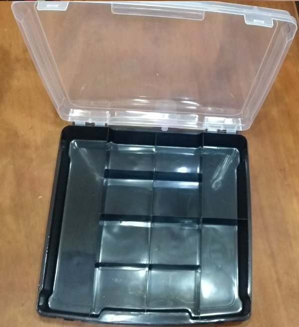 Caixa Organizadora Plástica Fundo Preto 11 Divisórias