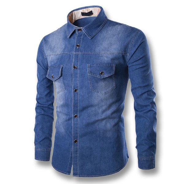 Camisas jeans masculina - RETAIL COMPANY a59ce429e74