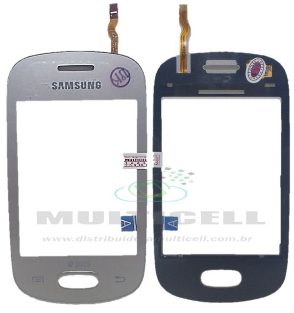 TELA TOUCH SCREEN SAMSUNG S5282 STAR DUOS PRATA 1ªLINHA